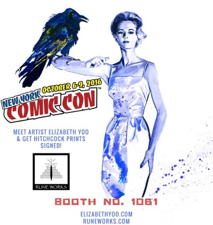 The Birds By artist Elizabeth Yoo at New York Comic Con 2016
